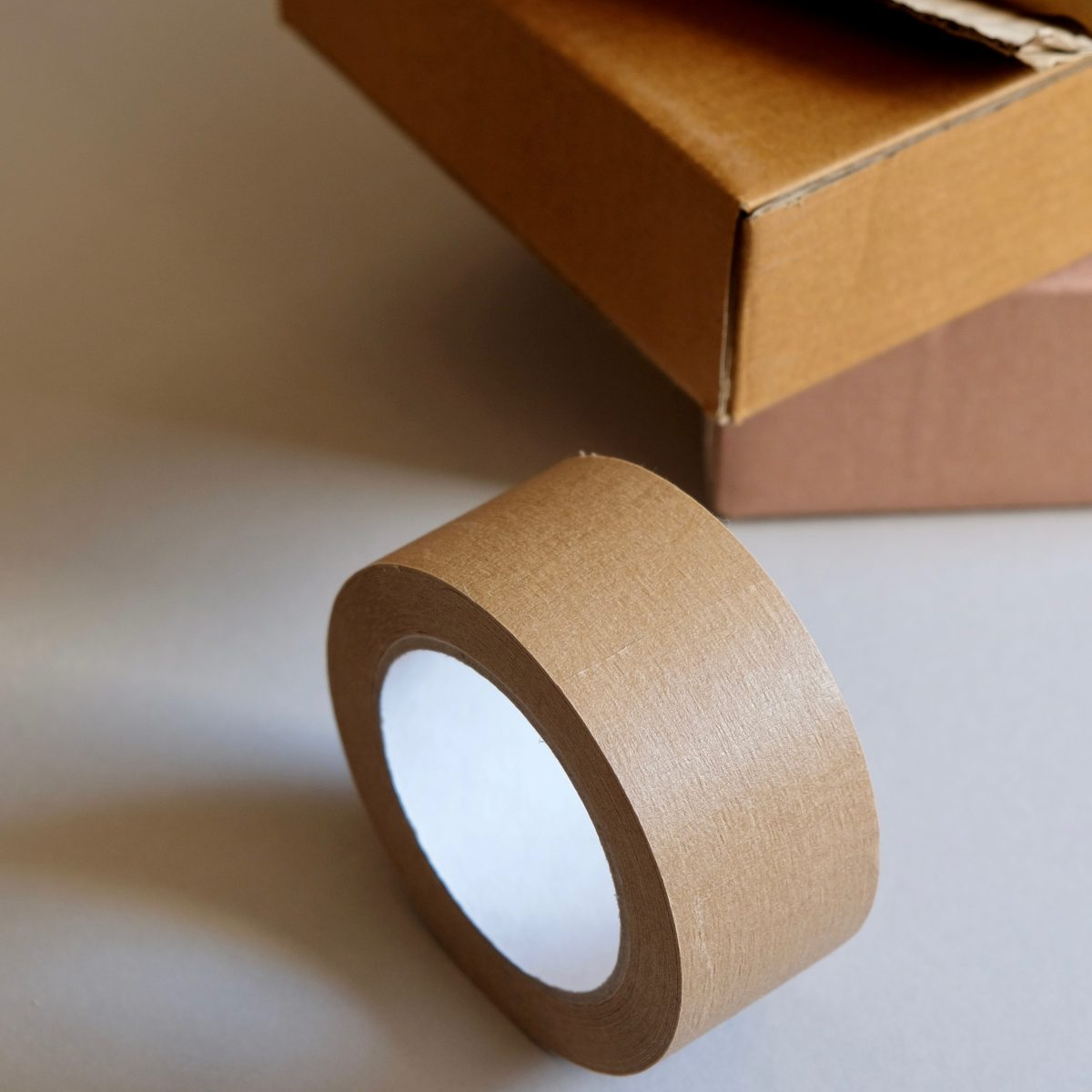 Roll of brown stationery tape