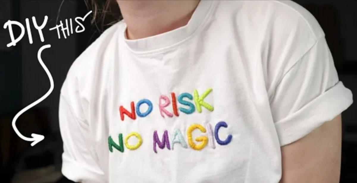 Satin Stitch Embroidery on a Shirt