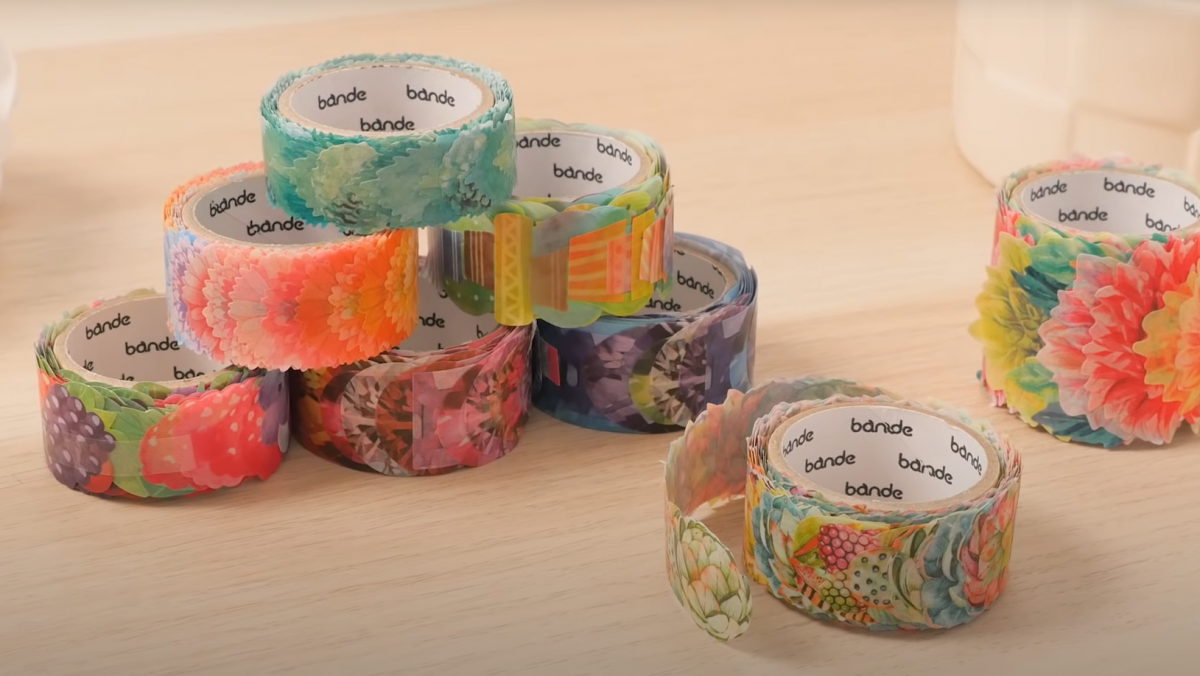 Rolls of floral washi tapes