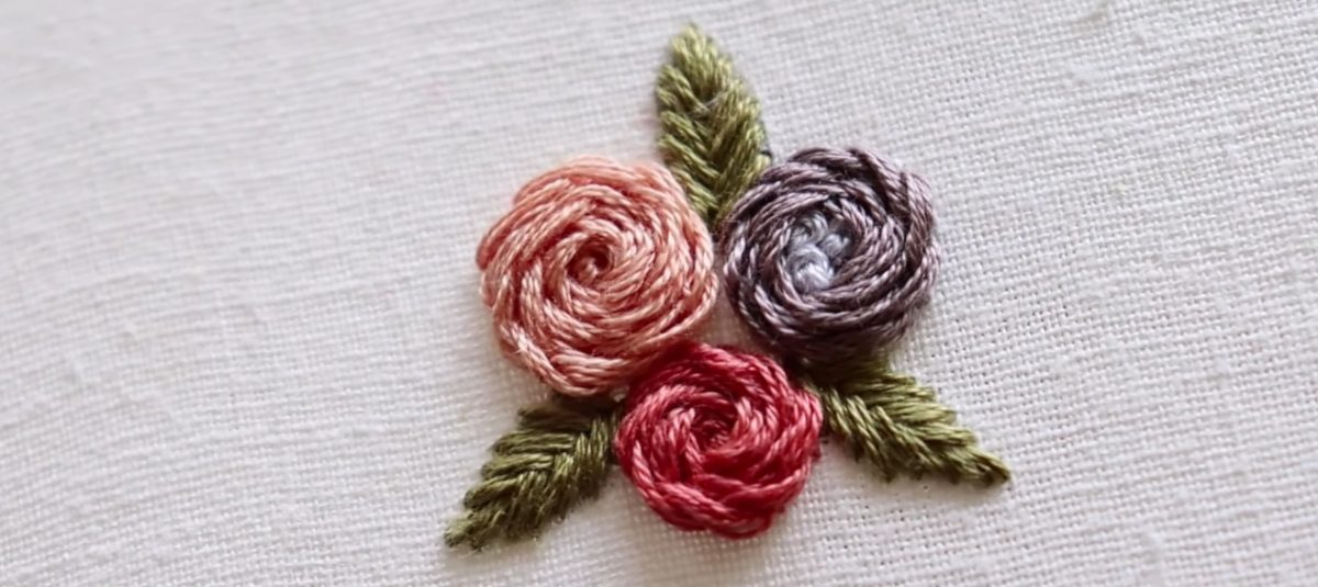How to Embroider a Basic Rose