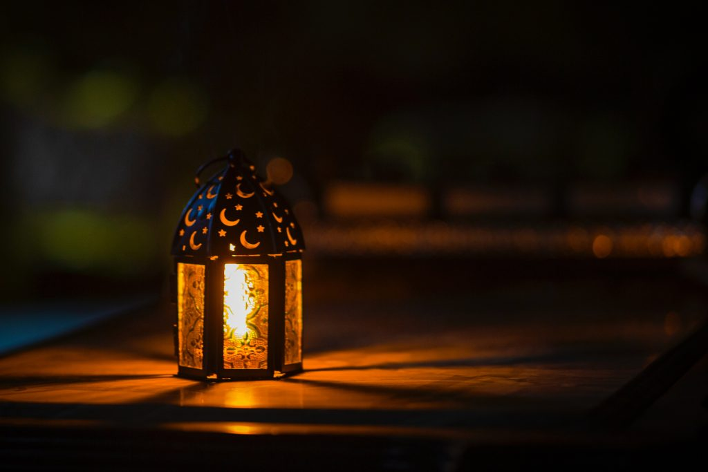 lamp glowing in the dark