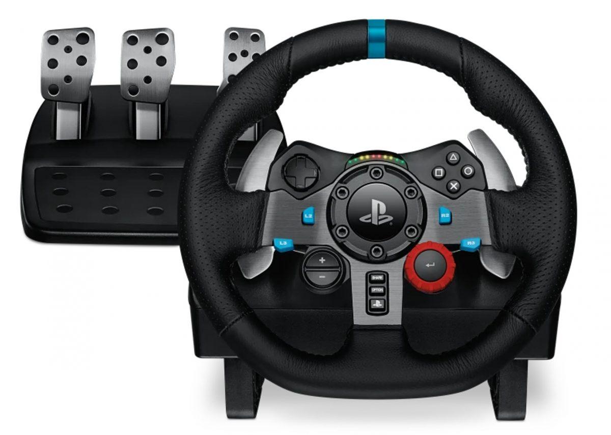 PS4 gaming wheel.