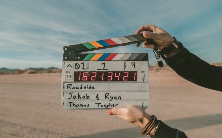 clapboard for movie quotes