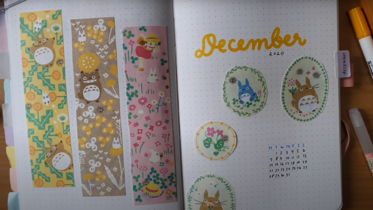 Stationery strips with Studio Ghibli design