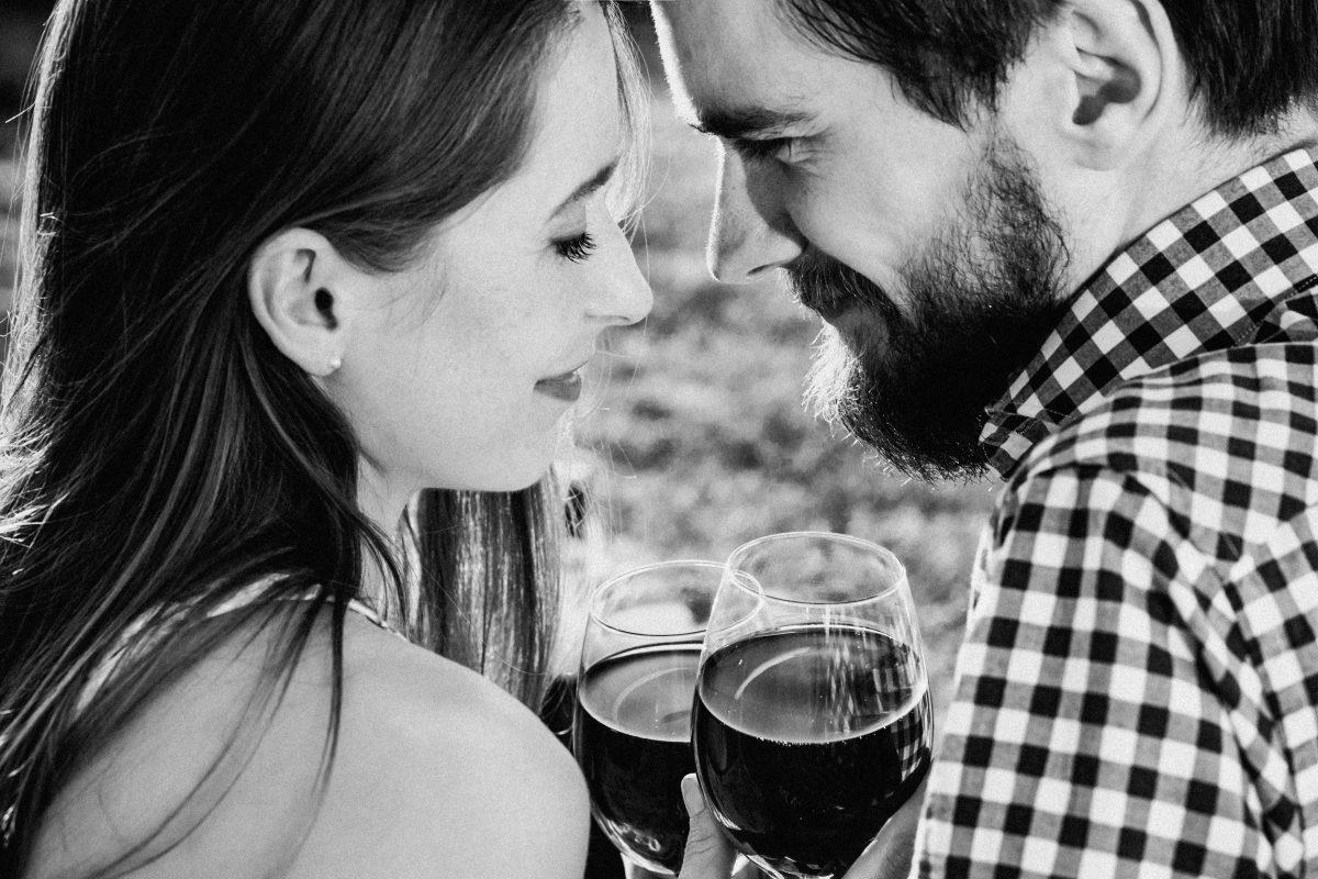 couple having wine