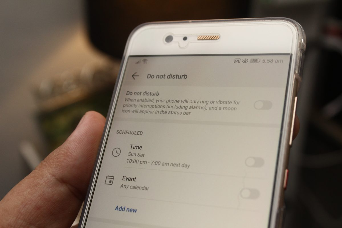 Do Not Disturb Mode for Android