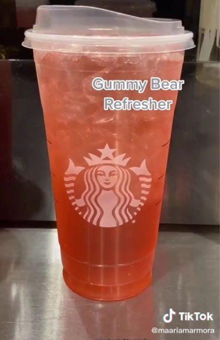 gummy bear tiktok starbucks drink