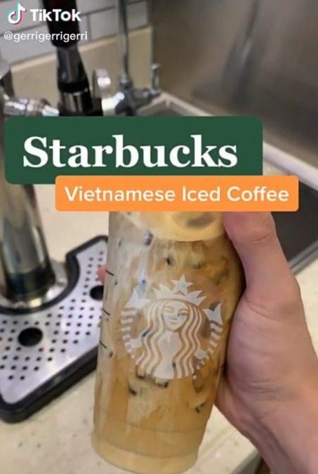 tiktok starbucks coffee drink