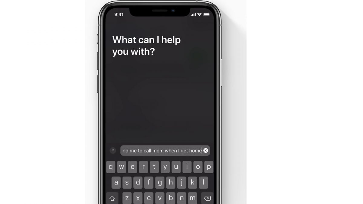 Type in Siri commands